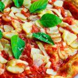 Pizza Basil Garlic Crust Food Italian